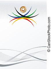 olimpijski, złoty, abstrakcyjny, igrzyska, tło, medal