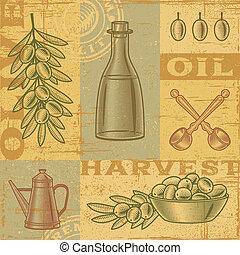 oliwka, rocznik wina, żniwa, tło