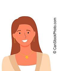 online, pomocnik, uśmiechanie się, doradca, userpic, kobieta