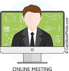 online spotkanie, pojęcie