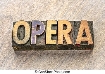 opera, wypowiedzieć drewno, typ