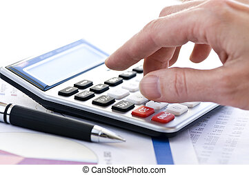 opodatkować, pióro, kalkulator