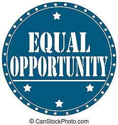 opportunity-label, równy