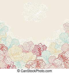 orchid., kwiat, abstrakcyjny, seamless, elegancja, tło