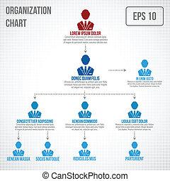 organizacyjny, infographic, wykres