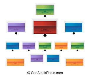 organizacyjny, infographic, zbiorowy, wykres, 3d