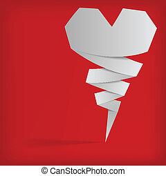 origami, abstrakcyjny, wektor, tło