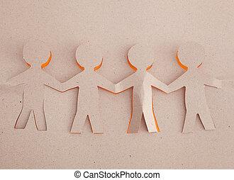 origami, ludzki
