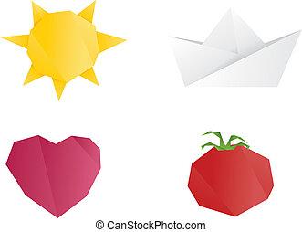 origami, obiekty