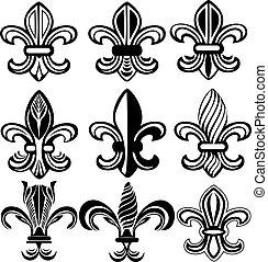 orleans, symbol, lilia, fleur, nowy, od