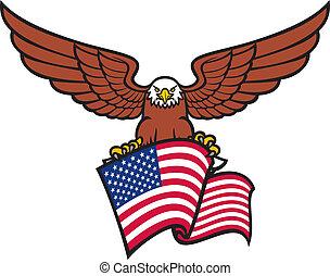 orzeł, bandera, usa