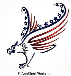 orzeł, usa, amerykańska bandera, logo, ikona