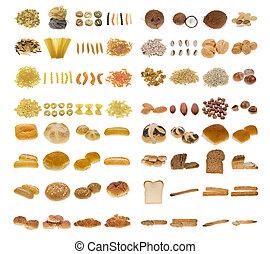 orzechy laskowe, pasta, bread