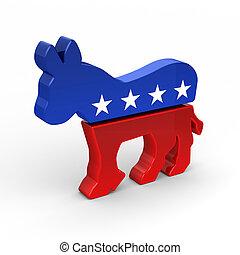osioł, demokrata