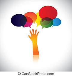 osoba, również, pojęcie, strapienie, pomagać, ludzie, to, miłość, abstrakcyjny, szukając, wektor, przystanek, etc, albo, graficzny, pomoc, wyobrażenia, troska, poparcie, soccour, assistance.