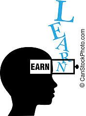 osoba, zarobić, wykształcenie, sylwetka, uczyć się
