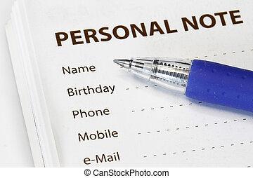 osobisty, informacja