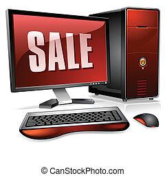 osobisty, realistyczny, komputer, desktop