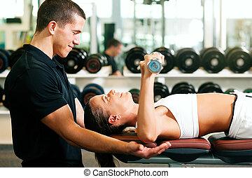 osobisty trener, sala gimnastyczna