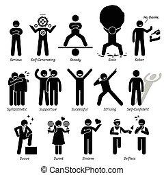 osobowości, ludzki, dobry