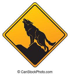 ostrzeżenie, wilk