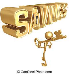 oszczędności, klucz