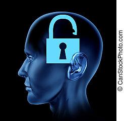 otwarta pamięć, ludzki mózg