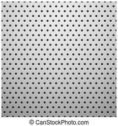 otwory, biały, metal, struktura