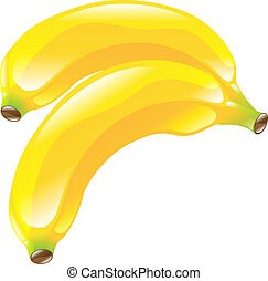 owoc, banan, clipart, ikona
