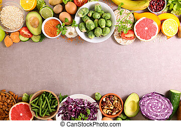 owoc brzeg, albo, vegetable-frame