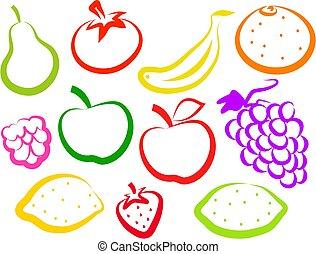 owoc, ikony