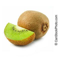 owoc kiwi, świeży, odizolowany, biały