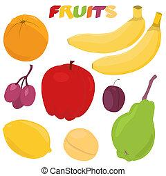 owoc, komplet, rysunek