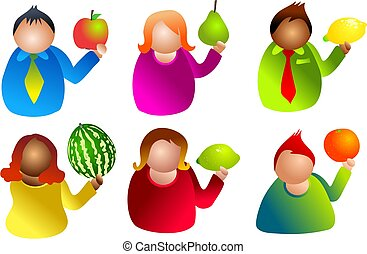 owoc, ludzie
