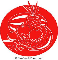 owoc, sztuka, zacisk