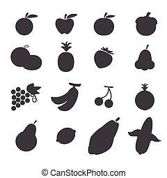 owoce, ikona