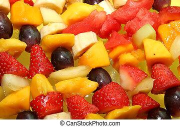 owocowy, tło
