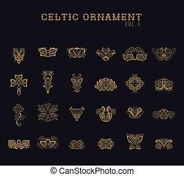 ozdoba, komplet, zbiór, celtycki