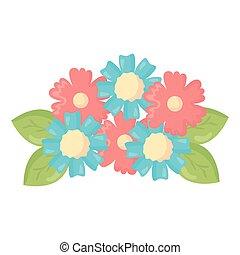 ozdoba, kwiaty, liście