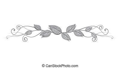 ozdoba, liście