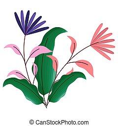 ozdoba, odizolowany, projektować, kwiaty, ilustracja, wektor