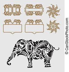 ozdoba, ozdoba, słoń