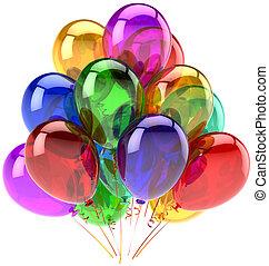 ozdoba, partia, urodziny, balony