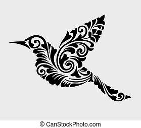 ozdoba, przelotny, ozdoba, ptak