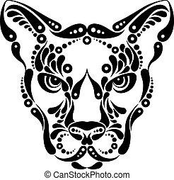ozdoba, symbol, puma, capstrzyk, ilustracja