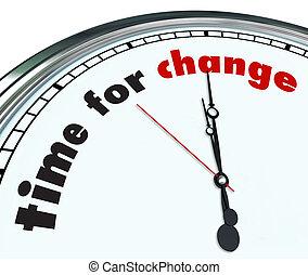 ozdobny, czas, -, zmiana, zegar