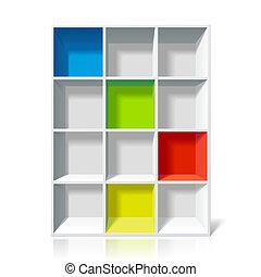 półka na książki, opróżniać
