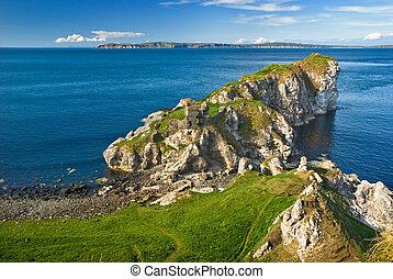 północna irlandia, urwisko