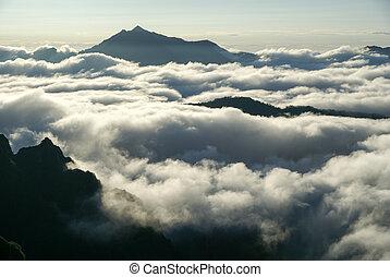 północny, chmury, alps', morze