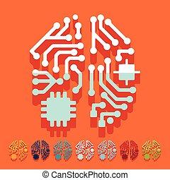 płaski, design:, sztuczna inteligencja